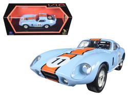 1965 Shelby Cobra Daytona #11 Blue 1/18 Diecast Car Model by Road Signature