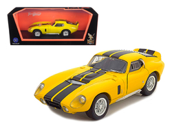 1965 Shelby Cobra Daytona Coupe Yellow 1/18 Diecast Model Car by Road Signature