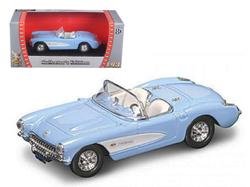 1957 Chevrolet Corvette Blue 1/43 Diecast Model Car by Road Signature