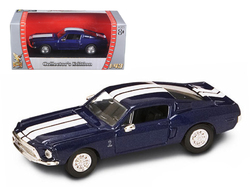 1968 Shelby GT 500 KR Blue 1/43 Diecast Model Car by Road Signature