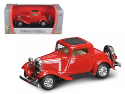 1932 Ford 3 Window Coupe Red 1/43 Diecast Model Car by Road Signature