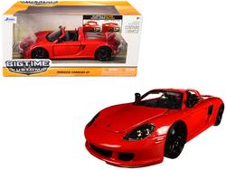 2005 Porsche Carrera GT Red 1/24 Diecast Model Car by Jada