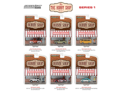 The Hobby Shop Series 1, 6pc Diecast Car Set 1/64 Diecast Model Cars by Greenlight