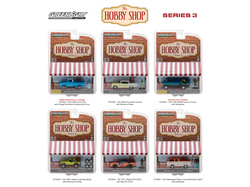 The Hobby Shop Series 3 Set of 6 Cars 1/64 Diecast Models by Greenlight