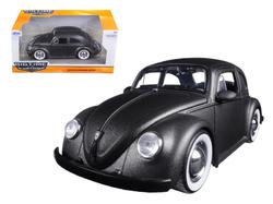 1959 Volkswagen Beetle Satin Metallic Matt Gray with Baby Moon Wheels 1/24 Diecast Model Car by Jada
