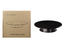 Rotary Display Turntable Stand Medium 10 Inches with Black Top for 1/64, 1/43, 1/32, 1/24, 1/18 Scale Models by Autoart