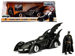 1995 Batman Forever Batmobile with Diecast Batman Figure 1/24 Diecast Model Car by Jada