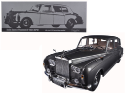1964 Rolls Royce Phantom V MPW Gunmetal Grey LHD 1/18 Diecast Model Car  by Paragon