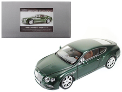 2016 Bentley Continental GT LHD Verdant Green 1/18 Diecast Model Car by Paragon
