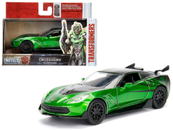 "2016 Chevrolet Corvette Crosshairs Green From ""Transformers 5"" Movie 1/32 Diecast Model Car by Jada"