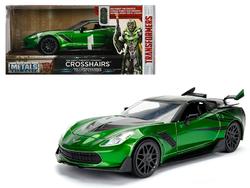"2016 Chevrolet Corvette Crosshairs Green From ""Transformers"" Movie 1/24 Diecast Model Car by Jada Metals"