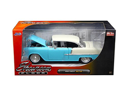 "1955 Chevrolet Bel Air Hard Top Blue ""Showroom Floor"" 1/24 Diecast Model Car by Jada"