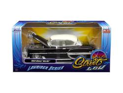 """1953 Chevrolet Bel Air Brown """"Lowrider Series"""" Street Low 1/24 Diecast Model Car by Jada"""