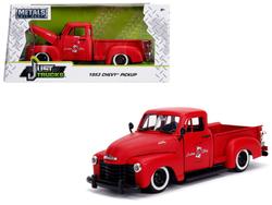 "1953 Chevrolet 3100 Pickup Truck Matt Red ""Custom Shop Classic Truck"" (Las Vegas, Nevada) ""Just Trucks"" Series 1/24 Diecast Model Car by Jada"