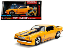 """1977 Chevrolet Camaro Concept Bumblebee Yellow from """"Transformers"""" Movie """"Hollywood Rides"""" Series 1/24 Diecast Model Car by Jada"""