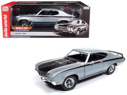 "1971 Buick GSX ""MCACN"" Platinum Mist Metallic/ Silver Limited Edition to 1002 pieces Worldwide 1/18 Diecast Model Car by Autoworld"