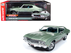 """1970 Buick Grand Sport GS 455 Hardtop """"MCACN"""" (""""Muscle Car and Corvette Nationals"""") Seamist Green Limited Edition to 1,002 pieces Worldwide 1/18 Diecast Model Car by Autoworld"""