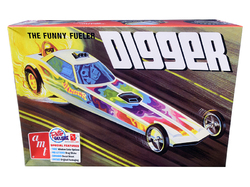 """Skill 2 Model Kit Digger Dragster """"The Funny Fueler"""" 1/25 Scale Model by AMT"""
