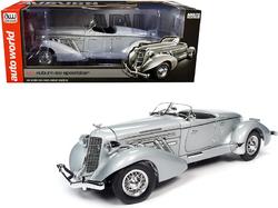 1935 Auburn 851 Speedster Haze Gray 1/18 Diecast Model Car by Autoworld
