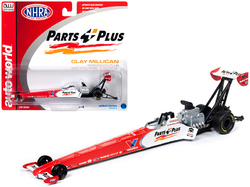 """2019 NHRA TFD (Top Fuel Dragster) Clay Millican """"Parts Plus"""" 1/64 Diecast Model Car by Autoworld"""