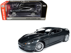 "Aston Martin DBS Quantum Silver / Dark Gray Metallic (James Bond 007) ""Quantum of Solace"" (2008) Movie 1/18 Diecast Model Car by Autoworld"