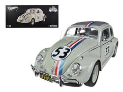 """1963 Volkswagen Beetle \""""The Love Bug\"""" Herbie #53 Elite Edition 1/18 Diecast Car Model by Hotwheels"""