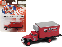 """1941-1946 Chevrolet Box (Reefer) Refrigerated Truck """"Drewrys Ale and Lager Beer"""" Red 1/87 (HO) Scale Model by Classic Metal Works"""