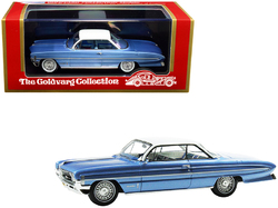 """1961 Oldsmobile """"Bubble Top"""" Light Blue Metallic with White Top Limited Edition to 235 pieces Worldwide 1/43 Model Car by Goldvarg Collection"""