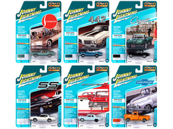 """""""Classic Gold Collection"""" 2020 Set A of 6 Cars Release 2 1/64 Diecast Model Cars by Johnny Lightning"""