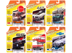 """""""Classic Gold Collection"""" 2020 Set B of 6 Cars Release 2 1/64 Diecast Model Cars by Johnny Lightning"""