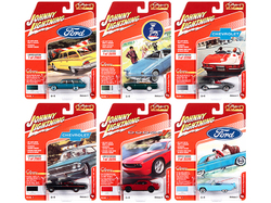"""""""Classic Gold Collection"""" 2020 Set A of 6 Cars Release 3 Limited Edition to 2000 pieces Worldwide 1/64 Diecast Model Cars by Johnny Lightning"""