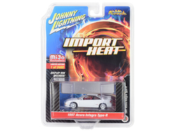 """1997 Acura Integra Type R White with Red Interior """"Import Heat"""" Limited Edition to 2400 pieces Worldwide 1/64 Diecast Model Car by Johnny Lightning"""