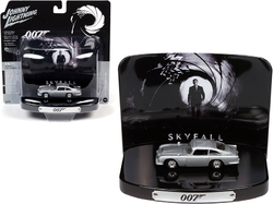 "1964 Aston Martin DB5 Silver Birch with Collectible Tin Display ""007"" ""Skyfall"" (2012) Movie (23rd in the James Bond Series) 1/64 Diecast Model Car by Johnny Lightning"