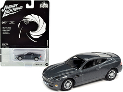 "2002 Aston Martin V12 Vanquish Gray Metallic (James Bond 007) ""Die Another Day"" (2002) Movie ""Pop Culture"" Series 1/64 Diecast Model Car by Johnny Lightning"