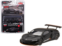 "Acura NSX GT3 Matt Black ""Los Angeles Auto Show 2017"" Limited Edition to 3600 pieces Worldwide 1/64 Diecast Model Car by True Scale Miniatures"
