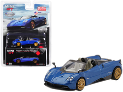 """Pagani Huayra Roadster Blue Francia """"U.S.A. Exclusive"""" Limited Edition to 4800 pieces Worldwide 1/64 Diecast Model Car by True Scale Miniatures"""