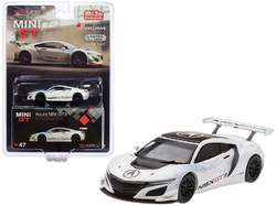 """Acura NSX GT3 White """"New York Auto Show 2016"""" Limited Edition to 3600 pieces Worldwide 1/64 Diecast Model Car by True Scale Miniatures"""