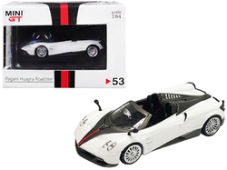 """Pagani Huayra Roadster RHD (Right Hand Drive) White """"Hong Kong Exclusive"""" 1/64 Diecast Model Car by True Scale Miniatures"""