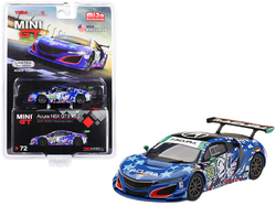 """Acura NSX GT3 #93 """"Statue of Liberty"""" 2017 IMSA Watkins Glen Limited Edition to 3600 pieces Worldwide 1/64 Diecast Model Car by True Scale Miniatures"""