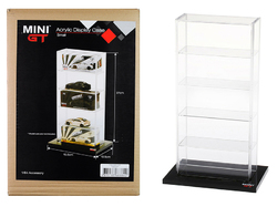 """5 Car Acrylic Display Show Case Small """"Mini GT"""" for 1/64 Scale Model Cars by True Scale Miniatures"""