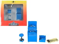 Tire Brigade 4 piece Tool Set Blue 1/24 by Motorhead Miniatures