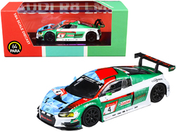 Audi R8 LMS #4 Audi Sport Team Phoenix Nurburgring P1 24 Hours (2019) 1/64 Diecast Model Car by Paragon