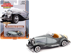 1935 Duesenberg SSJ Speedster Dark Gray and Light Gray 1/64 Diecast Model Car by Racing Champions