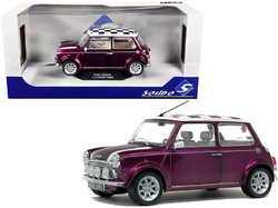 1997 Mini Cooper 1.3i Sport Purple with Check Top 1/18 Diecast Model Car by Solido