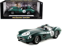 1959 Aston Martin DBR1 #5 Green 1/18 Diecast Model Car by Shelby Collectibles