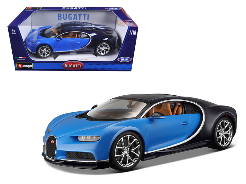 shop 2016 bugatti chiron blue 1 18 diecast model car bburago b. Black Bedroom Furniture Sets. Home Design Ideas