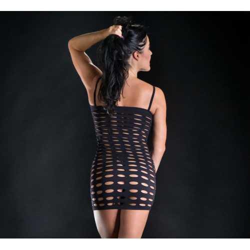 NAUGHTY GIRL SPAGHETTI STRING DRESS BUTT POSTER O/S BLACK (NET)