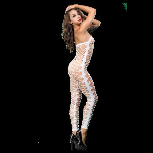 NAUGHTY GIRL MESH JUMPER WHITE O/S (NET)