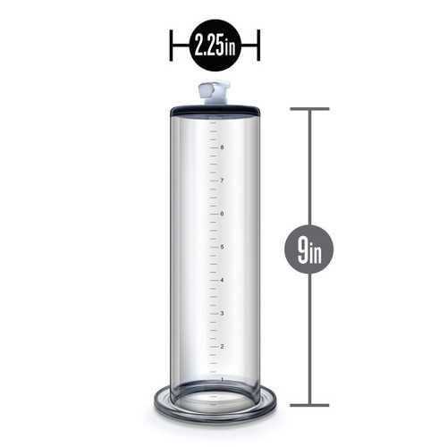 PERFORMANCE 9 IN X 2.25 IN PENIS PUMP CYLINDER CLEAR