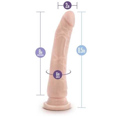DR SKIN BASIC 8.5IN WITH SUCTION CUP BEIGE